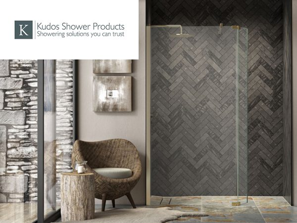 Kudos Ultimate2 walk in shower with hinged deflector panel
