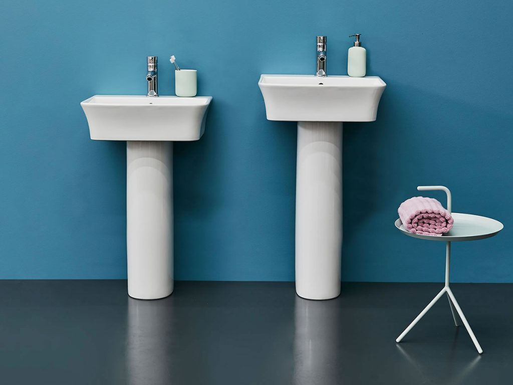 Britton Tall & Fine basins and pedestals