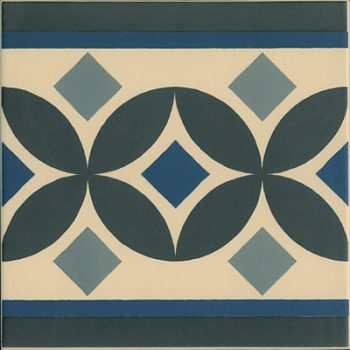 Abstract Guell Border Tile