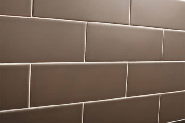 Close up of a professional tiled wall