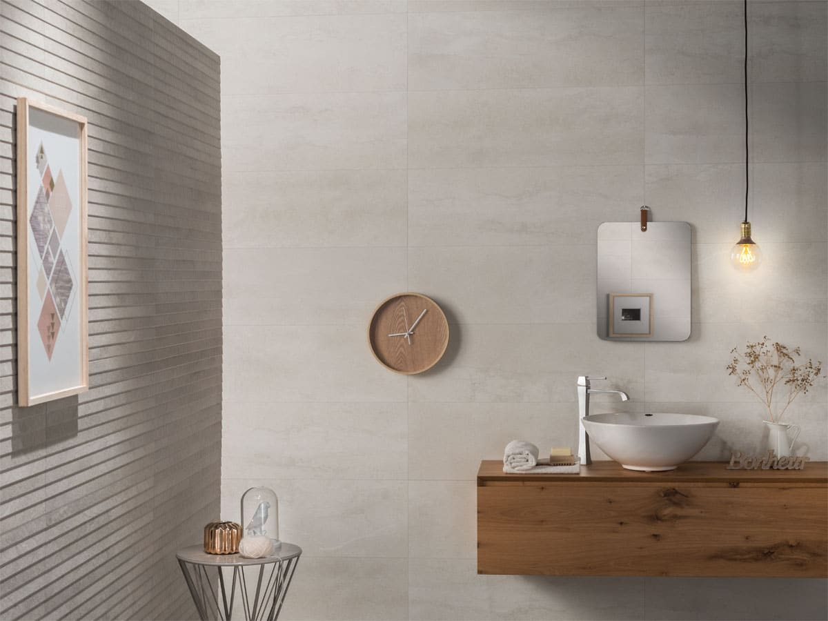 stylish bathroom with a freestanding basin and tap