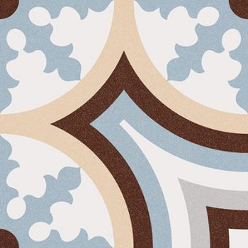 Abstract Beltri Celeste Patterned Tile