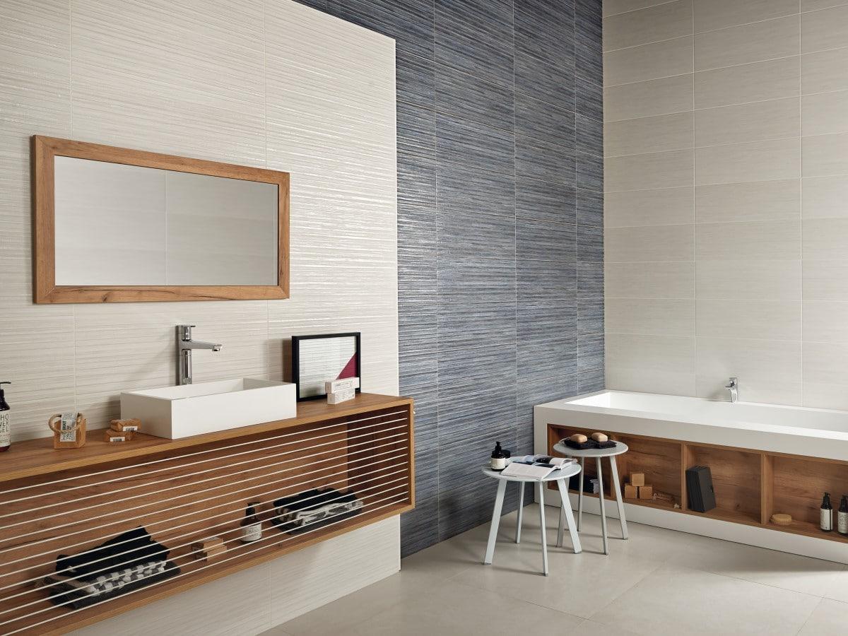 stylish bathroom with a designer basin unit and bath panel