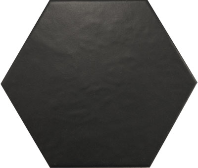 Hexagon Satin Black 175x200mm
