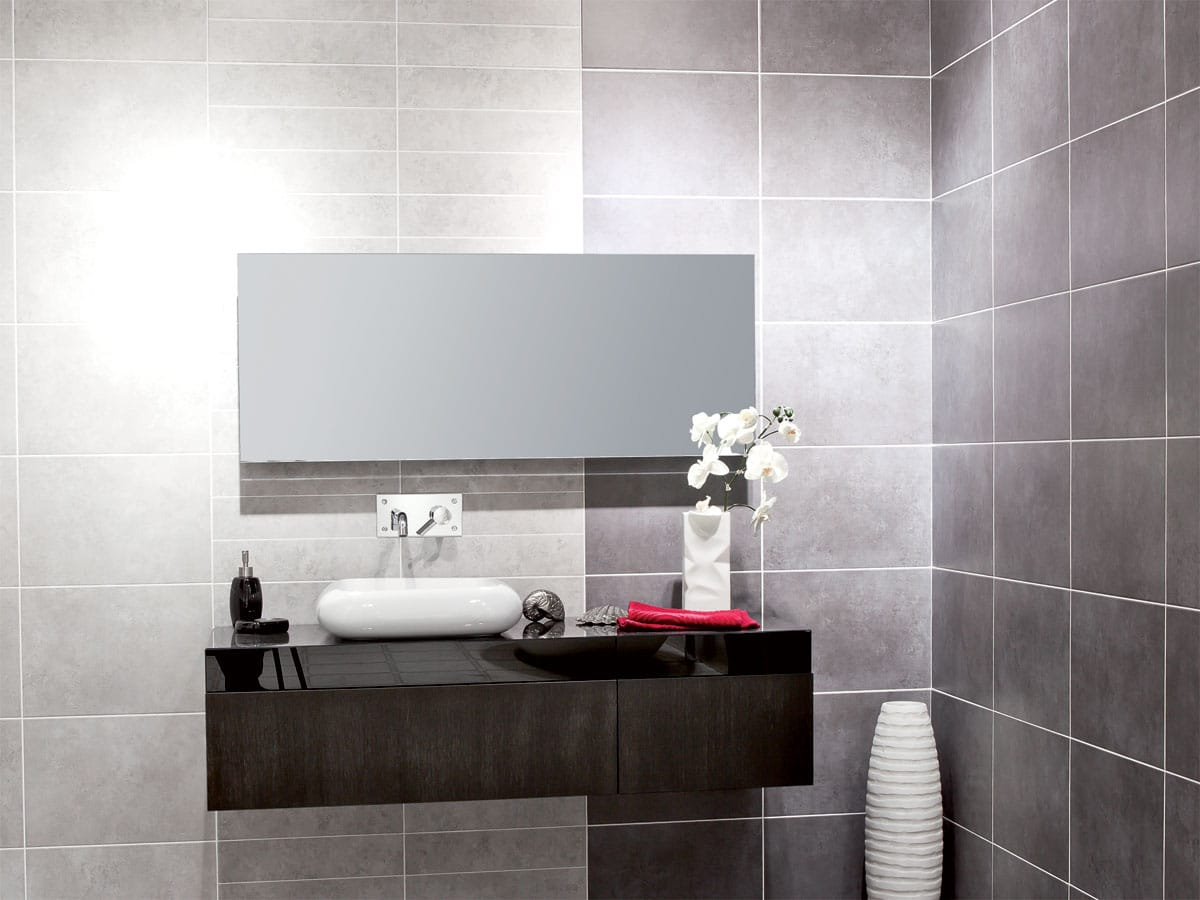 Contemporary bathroom setting with Cloud tiles