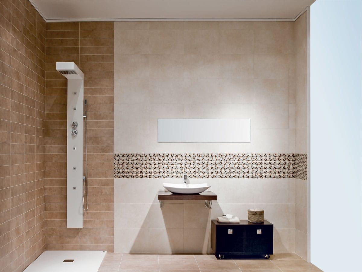 Cloud Marfil & Cloud Vision line tiles in a functional, modern wetroom