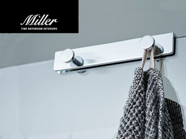 modern, chrome bathrobe hook