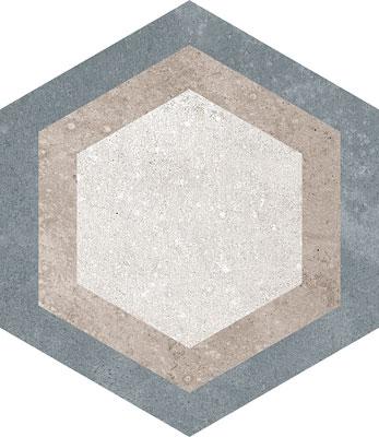 Hexagon Rift Multicolour 230x266mm Example 1