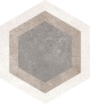 Hexagon Rift Multicolour 230x266mm Example 2