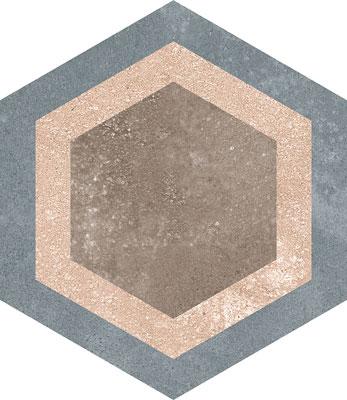 Hexagon Rift Multicolour 230x266mm Example 4