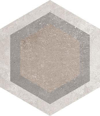 Hexagon Rift Multicolour 230x266mm Example 5