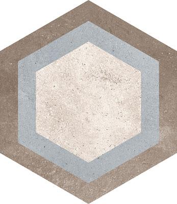 Hexagon Rift Multicolour 230x266mm Example 6