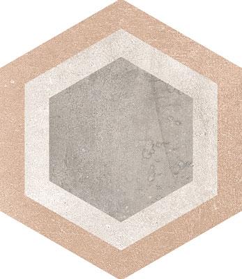 Hexagon Rift Multicolour 230x266mm Example 7